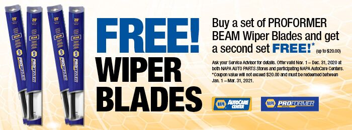 NAPA Wiper Blade Savings Professional Auto Diagnostics Newport News VA